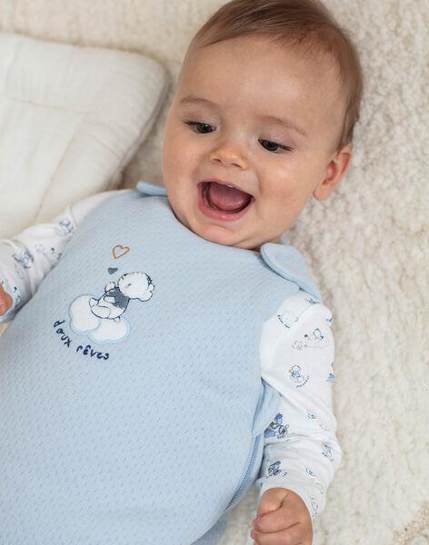 Turbulette bleu pâle brodée naissance garçon BOALEM / 21H0AG41TUR219