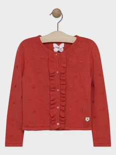 Cardigan manches longues en jersey fantaisie. SUMAXETTE / 19H2PFC1CARE406
