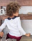 T-shirt manches longues écru col claudine enfant fille BROTOZETTE2 / 21H2PFB4TML001