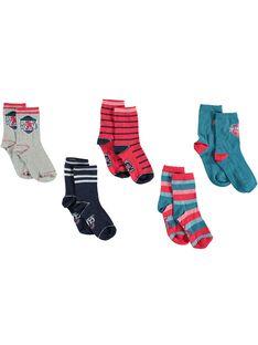 Lot de 5 paires de chaussettes petit enfant garçon  VUBLAGE / 20H4PGC1LC5070