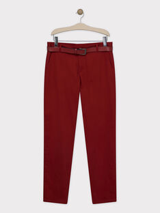 Pantalon Bordeaux SIREGULAGEM / 19H3GHU1PAN719