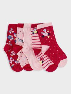 Lot de 5 paires de chaussettes petite fille  TOUJAETTE / 20E4PF91LC5304