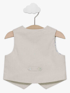 Veste de costume sans manches beige bébé garçon TAJACQUES / 20E1BGJ1VSM808