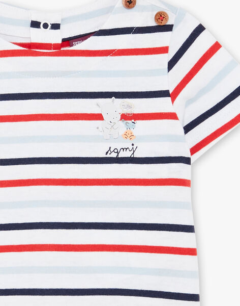 T-shirt marinière manches courtes bébé garçon ZAOLIVIER / 21E1BGT1TMC000