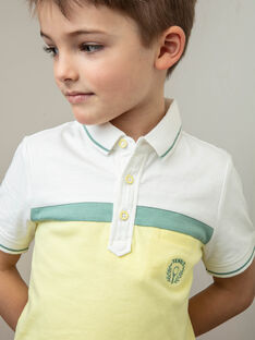 Polo tricolore brodé enfant garçon ZECHAGE