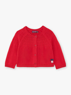 Cardigan rouge en maile fantaisie ZAFANNY / 21E1BFB1CAR050