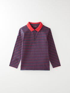 Polo manches longues rayés rouge et bleu VUGAGE 1 / 20H3PGC3POL070