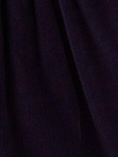 Chasuble bleu nuit en velours côtelé et doudou imprimé  VAIMA / 20H1BFM1CHS705