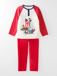 Pyjama en velours rouge petit garçon  VOILAGE / 20H5PG26PYJ050
