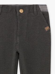 Pantalon gris à carreaux enfant garçon BAMSAGE / 21H3PG23PAN942