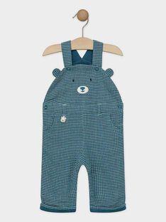 Salopette bébé garçon vert bleu  SATHOR / 19H1BGN1SAL210