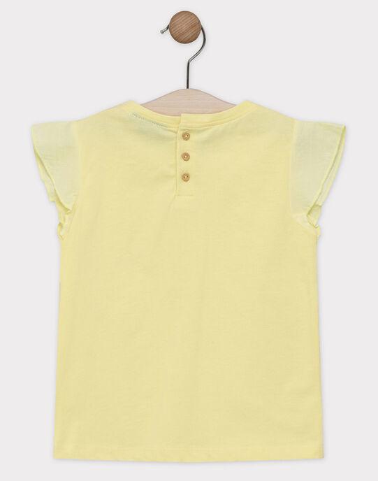 Tee-shirt animation jaune fille  SEMANETTE / 19H2PF21TMCB115