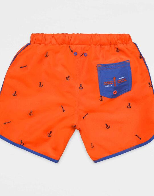 Short de bain orange - bleu NYBAGE / 18E4PGV6MAIE402