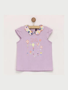 Tee shirt manches courtes mauve ROPIYETTE / 19E2PFD1TMC328