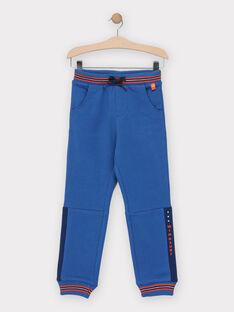 Bas de jogging bleu garçon  TUTOAGE 1 / 20E3PG92JGB218