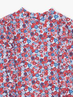 T-shirt manches longues anti-UV à imprimé fleuri enfant fille ZAIJUETTE / 21E4PFR1TUV020
