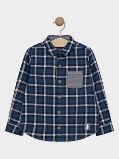 Chemise bleu à carreaux garçon SICHAGE / 19H3PGN1CHM713