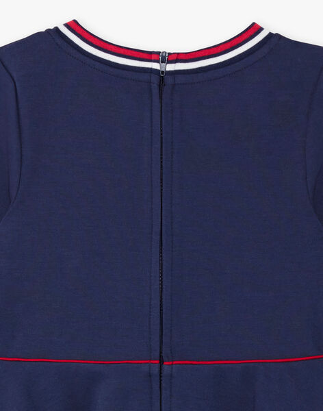 Robe bleu marine maille milano à détail noeud ZLOMETTE1 / 21E2PFK3ROBC214