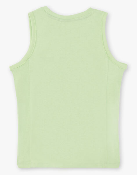 Débardeur vert enfant garçon TUNALAGE / 20E3PGX1DEBG628