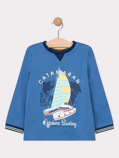 Tee-shirt à manches longues bleu garçon  TUTILAGE 1 / 20E3PG91TMLC201