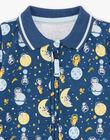 Grenouillère bleu nuit à motifs fantaisie bébé garçon BEANTOINE / 21H5BG65GRE715