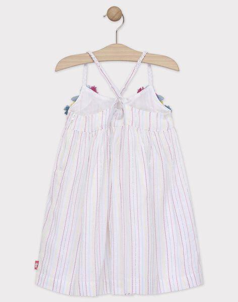 Robe à bretelles rayée détails fleurs enfant fille TEURETTE / 20E2PFX1ROB001