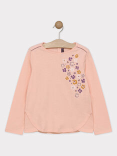 Tee-shirt rose animation fille SOLIMETTE / 19H2PF63TMLD317