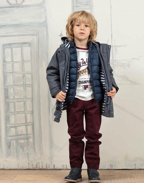 Imperméable à capuche gris 2 en 1 enfant garçon BARIMPAGE / 21H3PGC2IMPJ912