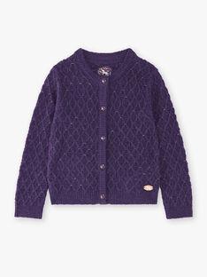 Cardigan fantaisie violet VLIMOETTE / 20H2PFS1CAR718