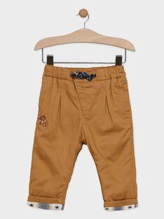 Pantalon bébé garçon camel  SARUSSEL / 19H1BGI1PAN817