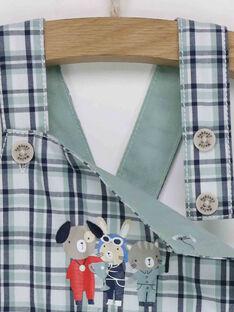 Salopette courte à carreaux motifs animaux bébé garçon RAPEDRO / 19E1BGH1SAC610