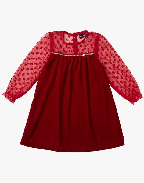 Robe Rouge Noel Au Chateau Enfant Sergentmajor