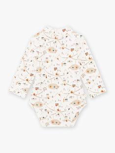 Body blanc à col montant et imprimé fantaisie bébé garçon BASTANLEY / 21H1BGO1BOD000