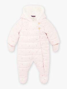 Combi-pilote rose à imprimé feuille dorée bébé fille BISONIA / 21H1BFE1PILD327
