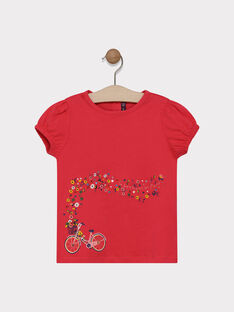 Tee-shirt rose animation fantaisie fille SAMAVETTE / 19H2PF31TMCD325