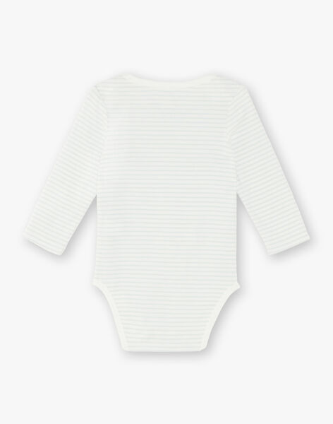 Lot de 3 bodies manches longues bébé garçon en coton bio ZEDANY / 21E5BG31BDL001