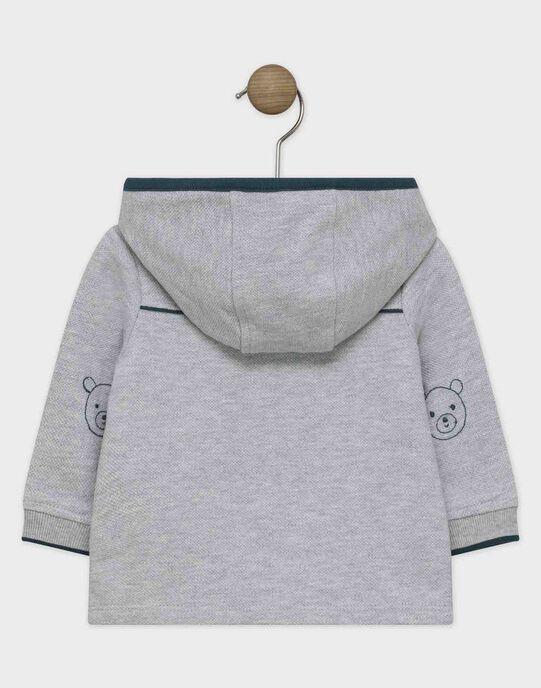 Veste de jogging bébé garçon gris chiné  SAMILIEN / 19H1BGC1JGH943
