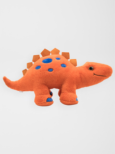 Dinosaure stegosaurus orange et bleu 60 cm  dino orange / 20J7GG31PE3400