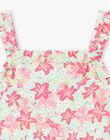 Robe de plage à bretelles imprimé fleuri enfant fille ZAOFAETTE / 21E2PFQ1RBSC216