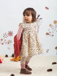 Robe écrue à imprimé fleuri bébé fille BAIME / 21H1BFJ1CHS001