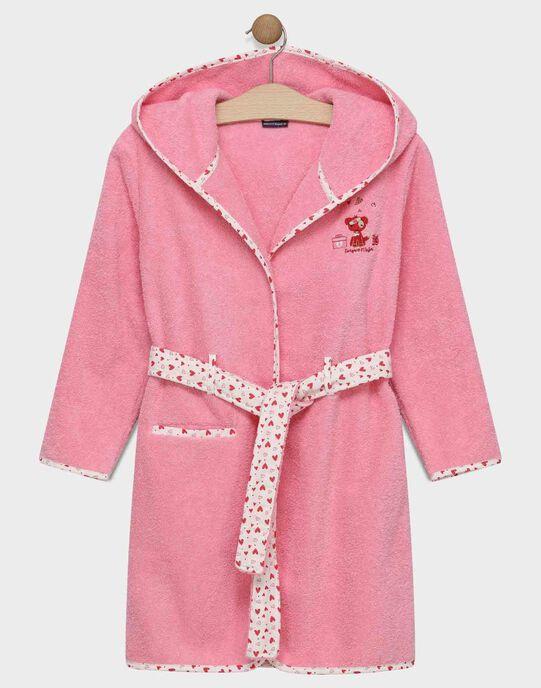 Peignoirs en bouclette rose petite fille SYNARVETTE / 19H5PF51PEID300