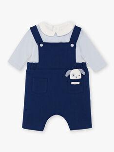 Salopette et body bleu marine et ciel naissance garçon BOUBAKARI / 21H0CG41ENS070