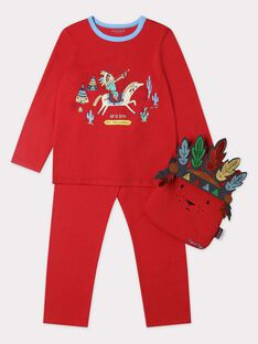 Pyjama rouge sur le thème des indien garçon. TIJAMAGE 1 / 20E5PG53PYTF509