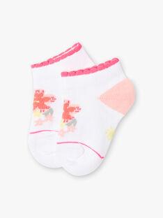 Socquettes blanches motif fleuri bébé fille ZASUNDAY / 21E4BFU1SOB000
