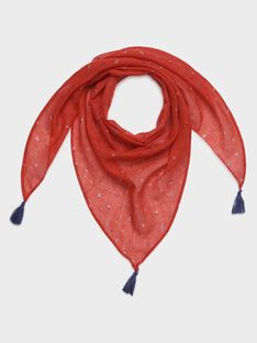 Foulard rouge imprimé petite fille  TUIROETTE / 20E4PFW1FOUF503
