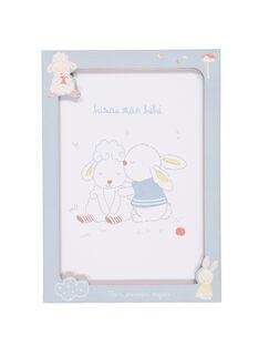 "Affiche ""lapins"" bleu ROBISOUAFF / 19EZNAX3AFF208"