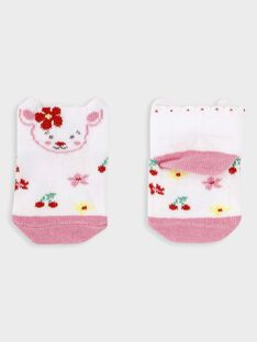 Chaussettes imprimées basses bébé fille  TAMAELLE / 20E4BFH2SOB001