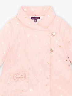 Manteau imperméable rose bébé fille BIPALOMA / 21H1BFD1PAR303
