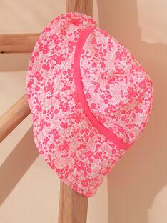 Chapeau rose fleuri à imprimé fleuri bébé fille ZISOLINE / 21E4BFR2CHA001