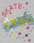 Sweat shirt gris chiné REAGE / 19E3PGC4SWE943